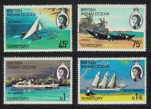 BIOT Ships of the Islands 4v SG#32-35