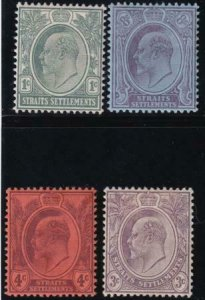 Straits Settlements 1903-1904 SC 105-108 Mint Set