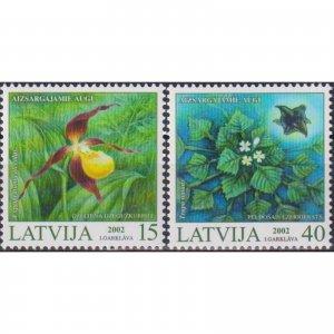 Latvia 2002 Protected Plants of Latvia  (MNH)  - Flora, Flowers