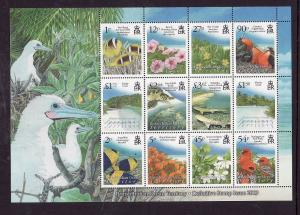 BIOT-Sc#394a-unused NH sheet-Flora & Fauna-Flowers-Birds-Fish-2009-