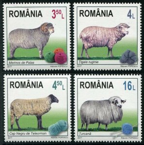 HERRICKSTAMP NEW ISSUES ROMANIA Sc.# 6009-12 Sheep Breeds