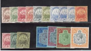 Bermuda #81 - #97 (SG #76b - #93 & #87a) VF Mint Set