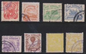 GERMANY PRIVATE POST HAMBURG 1888 HAMMONIA Michel 11-16 & 18 (2x) FULL SETS €151