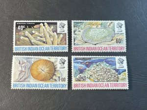 BR.INDIAN OCEAN TERRITORY # 44-47--MINT NEVER/HINGED----COMPLETE SET----1972