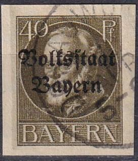 Bavaria #165 F-VF Used CV $20.00 (A18310)