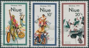 Niue 1974 SG190-192 Christmas set FU