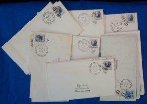 75 Railroad Post Office (RPO) Covers Fm 1960's (S17328)