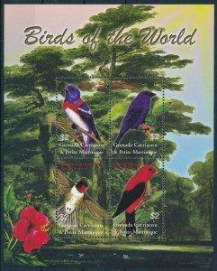 [108888] Carriacou & Petite Martinique 2003 Birds vögel oiseaux Mini sheet MNH