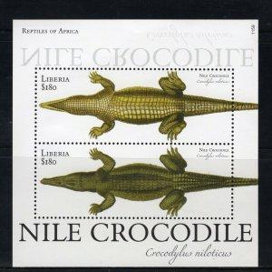 LIBERIA - 2011 Nile Crocodile  M2719C
