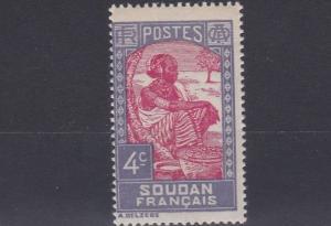 FRENCH COLONIES SUDAN  1931  4C  CARMINE & LILAC      MH