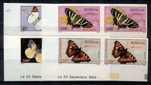 Senegal Scott 1187-90 Mint NH imperf pairs