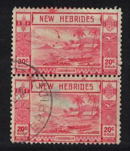 Br. New Hebrides Lopevi Island and Outrigger Canoe 20c Pair SG#55