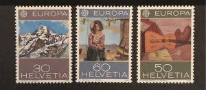 Switzerland 1975 #603-05, Unused/mh, CV $3.25