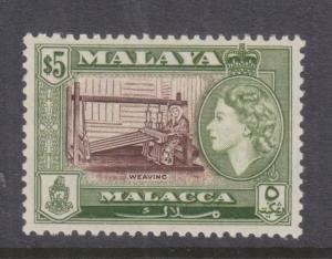 MALACCA, MALAYSIA, 1960 QE, $ 5.00, mnh.