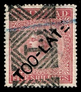 1869-94 Trinidad #56 TOO LATE CANCEL - USED  - VF/XF  - CV$90.00 (ESP#3284)