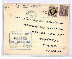 CS360 GB Scotland Edinburgh Airmail 1942 Cover {samwells-covers}