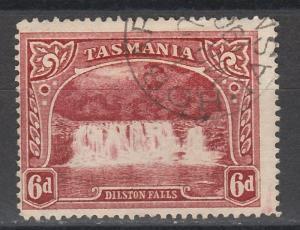 TASMANIA 1899 WATERFALL 6D WMK TAS USED