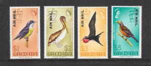 BIRDS - GRENADA #C15/19 MNH