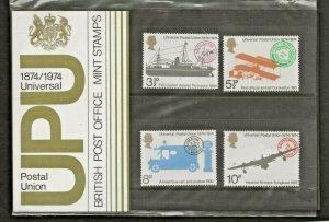1974 -1874/1974 UNIVERSAL POSTAL UNION PRESENTATION PACK 64