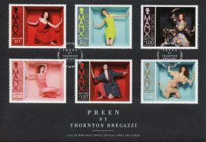 Isle of Man IOM 2018 FDC Preen by Thornton Bregazzi 6v Cover Art Fashion Stamps