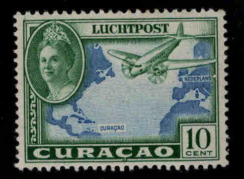 Netherlands Antilles Curacao  Scott C18 MH* Airmail stamp