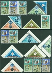 EDW1949SELL : QATAR 1965 Sc #53-60 Boy Scouts. 4 Complete sets. VF, MNH Cat $131