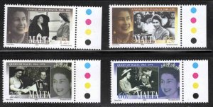MALTA  Scott 1129-1132 QE2 Coronation 50th Anniversry set MNH**