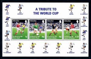 [43088] Gibraltar 1998 Sports World Cup Soccer Football  France MNH Sheet