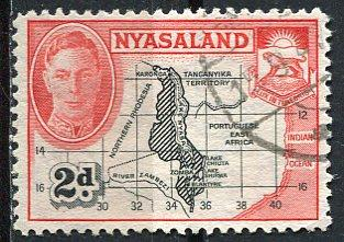 Nyasaland 1945: Sc. # 71: O/Used Cpl. Set