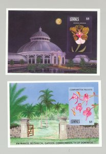 Dominica #1194-1195 Orchids 2v S/S Imperf Proofs