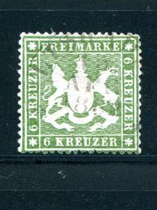 Wuerttemberg #26  Mi 18y Used XF  signed