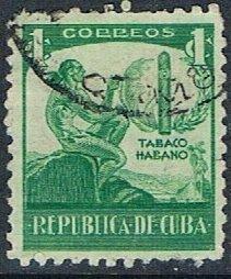 Cuba 356, 1c Ciboney Indian and Cigar, used, VF
