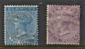 STAMP STATION PERTH Bermuda #2,5 QV Definitive Used Wmk.1 CV$65.00
