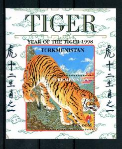 Turkmenistan 1998 MNH Year of Tiger 1v M/S Chinese Lunar New Year Stamps