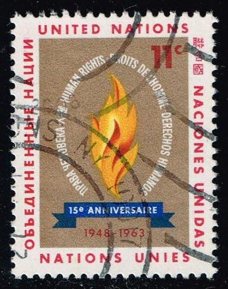 UN New York #122 Human Rights; Used (0.25)