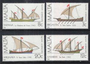Malta 619-619C Sailing Ships MNH VF
