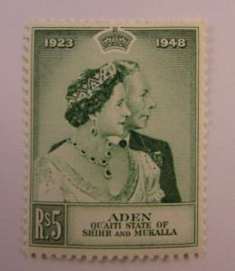 1948 Aden  SC #15  Qu'aiti State of Shihr and Mukalla  MH stamp