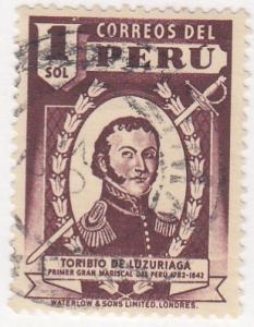 Peru, Sc 381, Used, 1938, Luzuriaga