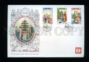 161437 ISLE OF MAN 1987 Victorian Christmas FDC cover