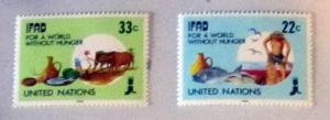 UN, NY - 519-20,  MNH Set. Agricultural Dev. SCV - $1.10