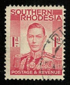 King Gerorge VI, 1937, South Rhodesia, YT #41 (T-6472)