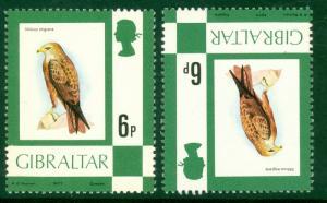 GIBRALTAR 1977 6p Black Kite BIRDS Scott 347 ERROR Inverted WATERMARK SG 381a NH