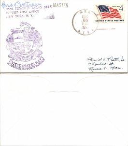 1959 USS ATKA + CACHET + SIGNED, 1959, Polar