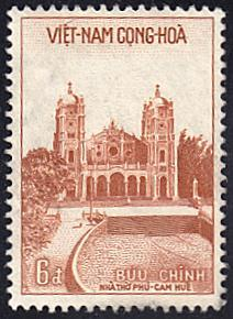 Viet Nam (South) # 107 hinged ~ 6pi Cathedral of Huê