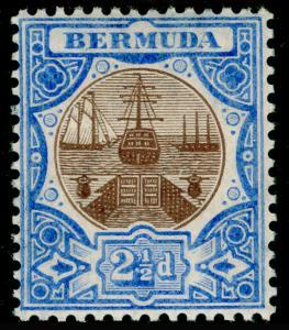 BERMUDA SG40, 2½d Brown & Ultramarine, LH MINT. Cat £32.