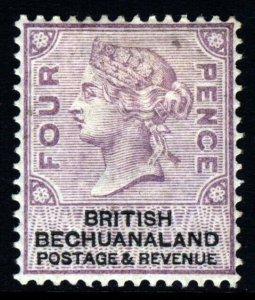 BRITISH BECHUANALAND QV 1888 Four Pence Lilac & Black SG 13 MINT