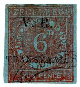 (I.B) Transvaal Revenue : Duty Stamp 6d (VR TRANSVAAL)