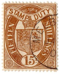 (I.B) Australia - Victoria Revenue : Stamp Duty 15/- (CTO Melbourne Postal)