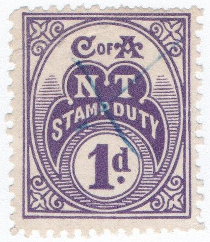 (I.B) Australia - Northern Territory : Stamp Duty 1d (1935)