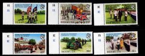 BERMUDA Scott 423-428 MNH** Regiment color guard set